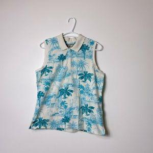 Caribbean Joe Vintage Sleeveless Hawaiian Shirt